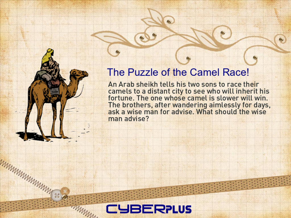 The Puzzle of the Camel Race